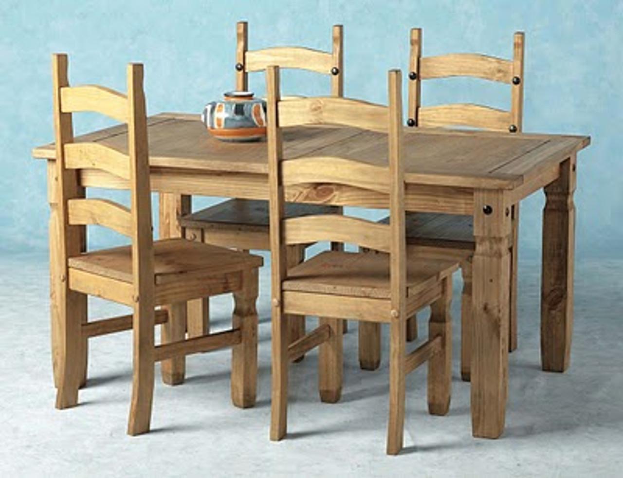 Corona Dining Table 5' Pine