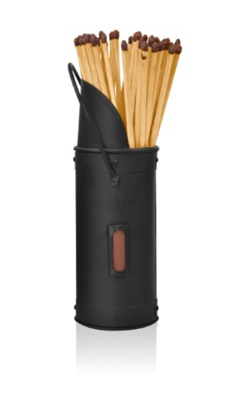 Match Holder & Matches Black 200mm
