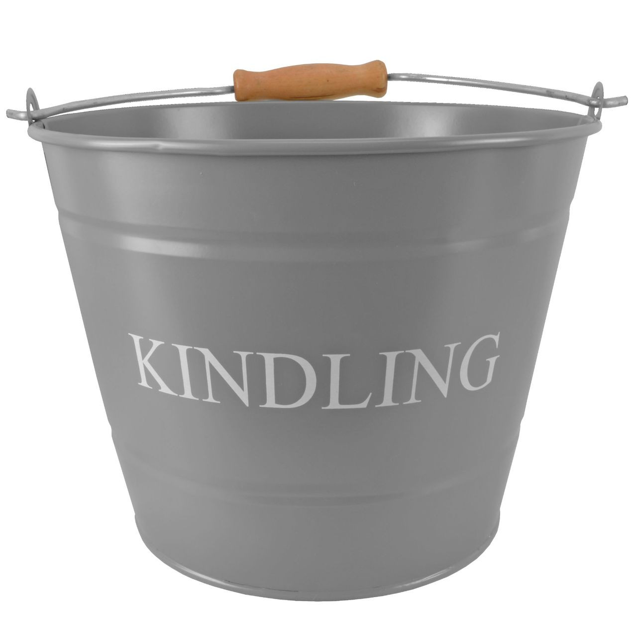 Small Kindling Bucket Grey 18cm