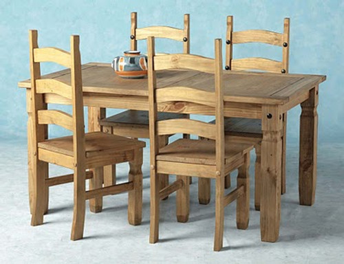 Corona Dining Table 5' Pine