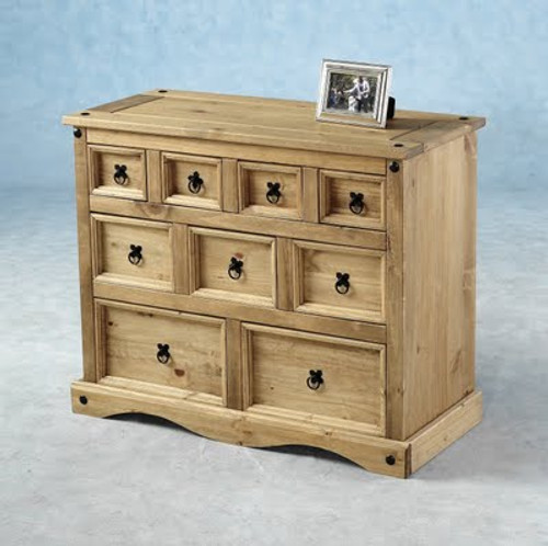 Corona 4+3+2 Drawer Merchant Chest in Distressed Waxed Pine