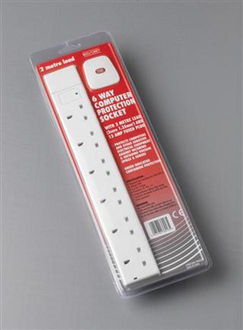 6G 13 amp 2 Metre Surge Protect
