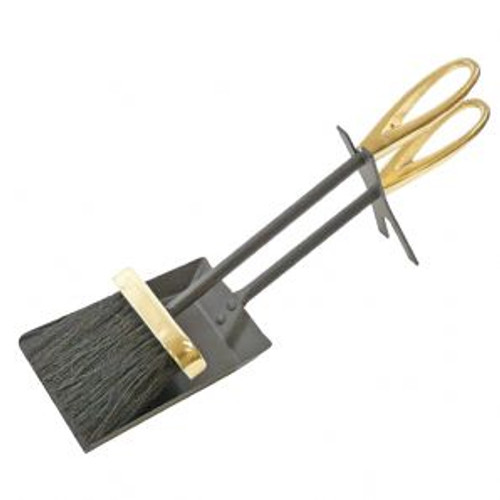 Loop Hearth Tidy Black/Brass 36cm