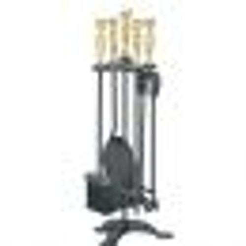 Manor Companion Set Black/Brass 55cm