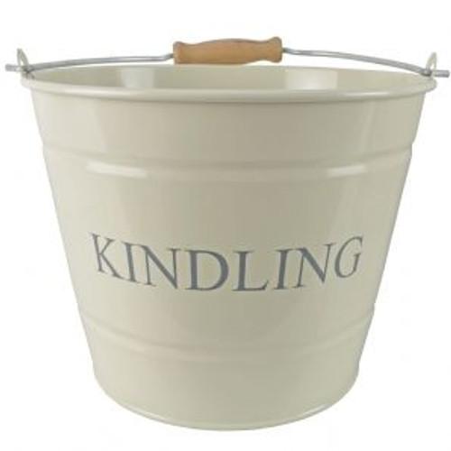 Small Kindling Bucket Cream 18cm
