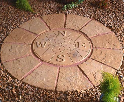 Compass Rotunda Buff Gold