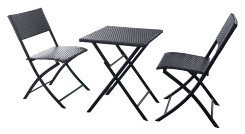 Capri 2 Seater Wicker Bistro Set  -  LOCAL DELIVERY ONLY