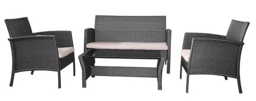 Rattan Effect Garden Sofa Set