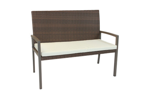 Rattan Garden Bench KD  -  LOCAL DELIVERY ONLY