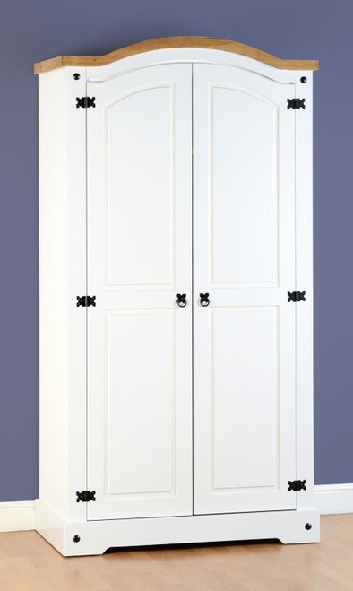 Corona 2 Door Wardrobe in White