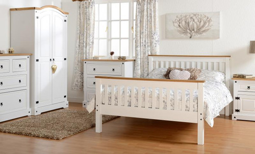 Corona 2+2 Drawer Chest in White