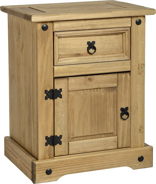 Corona 1 Door 1 Drawer Bedside Chest