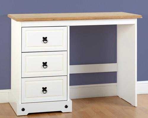 Corona 3 Drawer Dressing Table in White