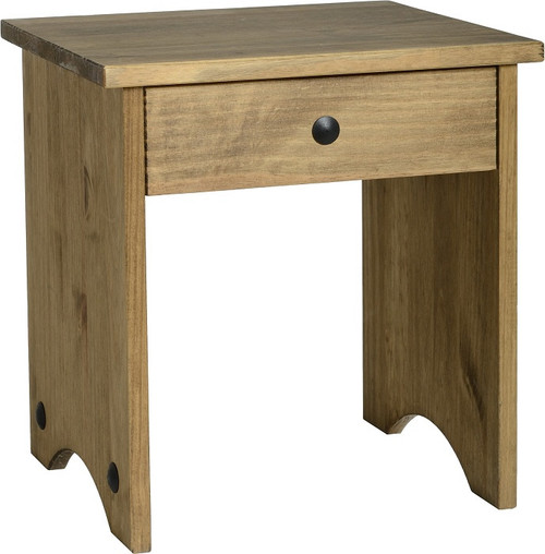 Corona Dressing Table Stool in Distressed Waxed Pine