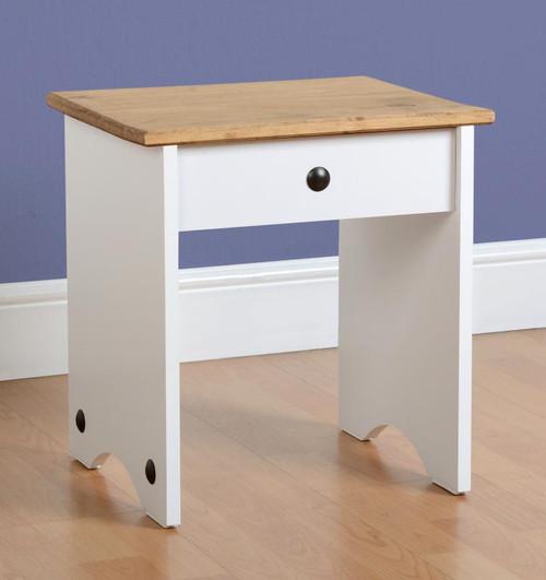 Corona Dressing Table Stool in White
