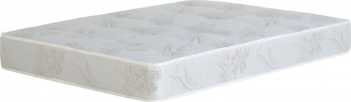 "Bella Deluxe Mattress 4' 6"" in Ivory Floral"