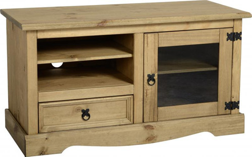 Corona Entertainment Unit in Distressed Waxed Pine