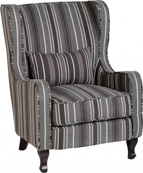 Sherborne Chair in Grey Stripe