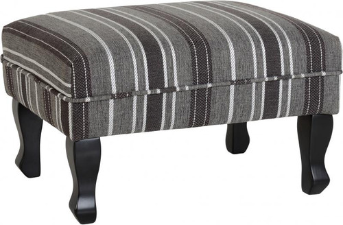 Sherborne Footstool in Grey Stripe