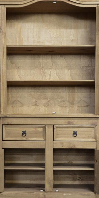 Corona Buffet Hutch Mexican Dresser in Distressed Waxed Pine