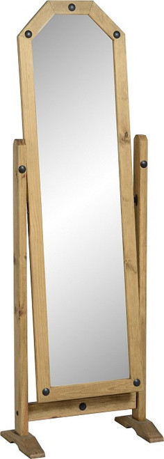 Corona Cheval Mirror in Distressed Waxed Pine