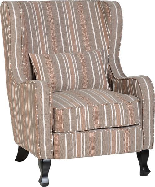 Sherborne Chair in Beige Stripe
