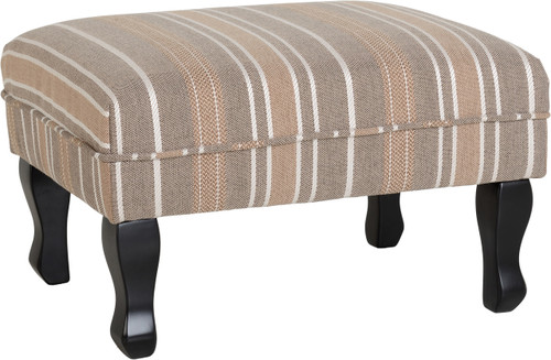 Sherborne Footstool in Beige Stripe
