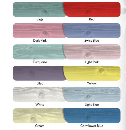 All Garden Sheds can be painted in any of these colours at an extra charge