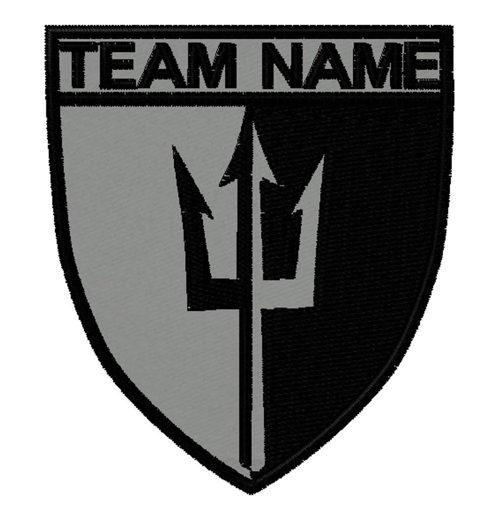 trident custom patch team template