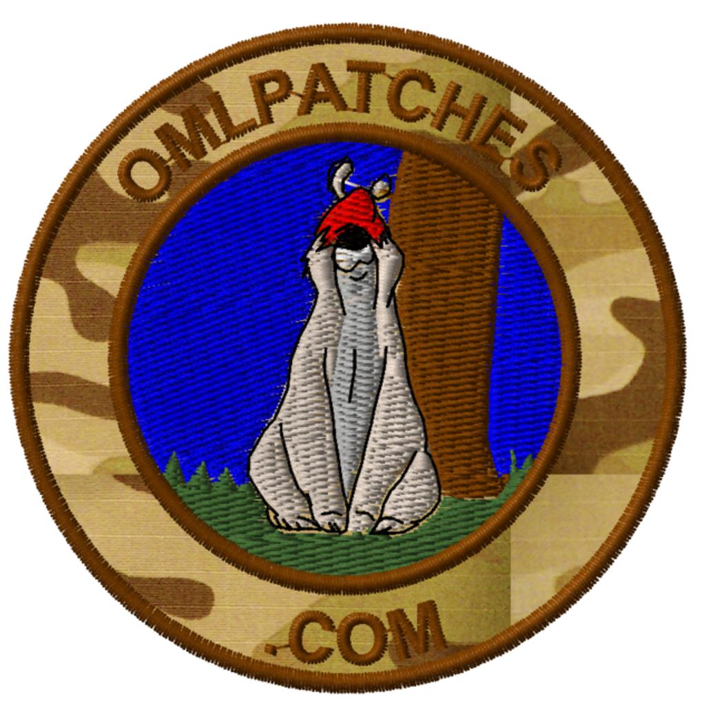 team template sheepdog sam custom velcro patch in multicam arid