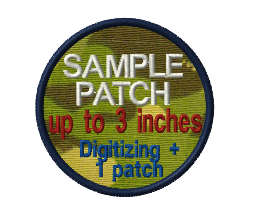 sample patch - digitizing plus 1 patch all in one package.