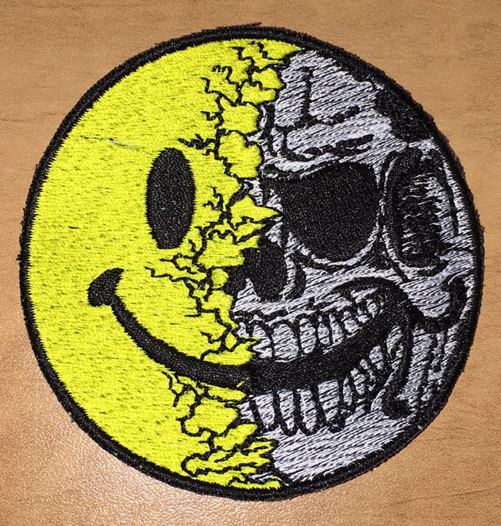 Smiley Skull Velcro patch