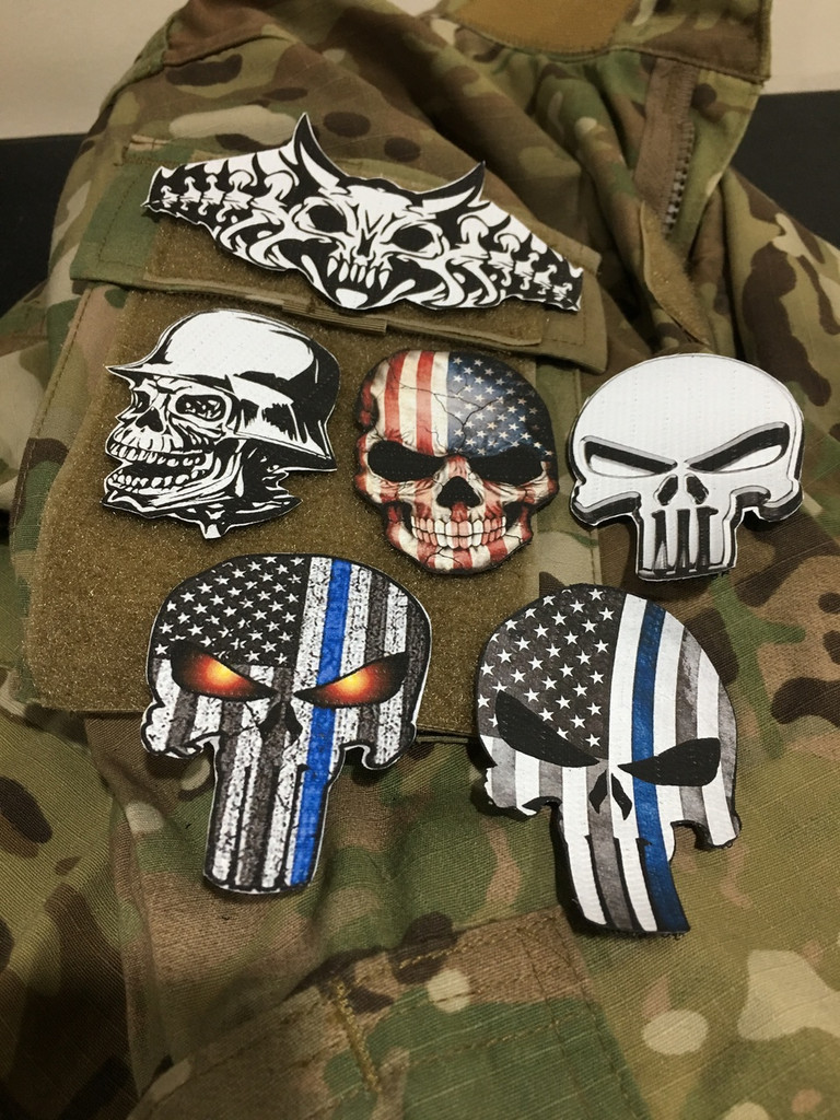 DTV (Direct to vinyl) custom patches - any shape, no limitations, full color!