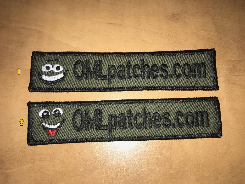 Merrowed Nametape Smiley Velcro patch