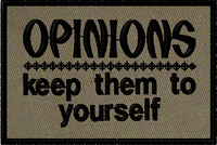 Opinions:  Keep them to yourself morale patch in OD material. #moralepatch #patches # oml