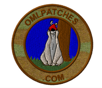 team template sheepdog sam custom velcro patch in woodland