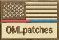 USA Red/Blue Line custom Morale patch