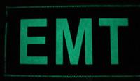 Custom 3x6 EMT Glow in the dark Velcro patch