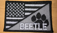 USA Paw Flag subdued version patch