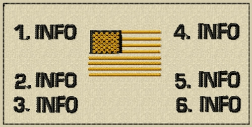 Battle Patch 3 with USA Flag