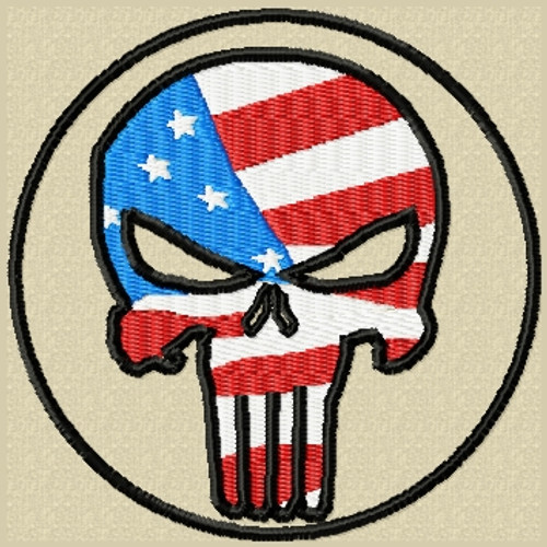 Punisher Patch with USA Flag