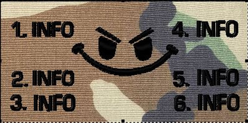 Woodland Battle patch with evil smiley