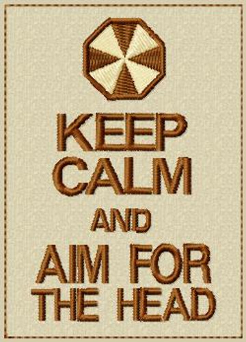Keep Calm and Aim for the Head VELCRO® Brand Patch