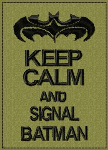 Keep Calm and Signal Batman VELCRO® Brand Patch
