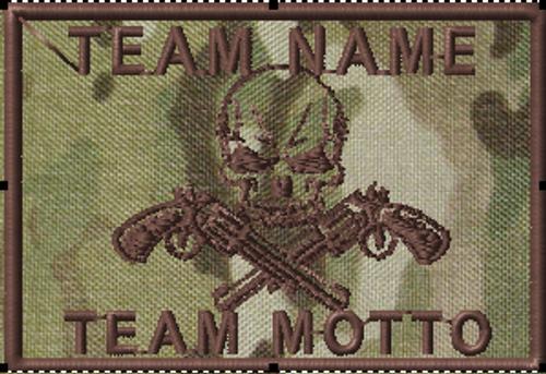Team Template Skull and Guns 2x3