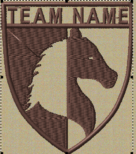 Team patches horse crest