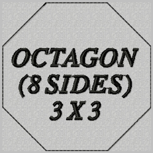 custom embroidered patch octagon shape