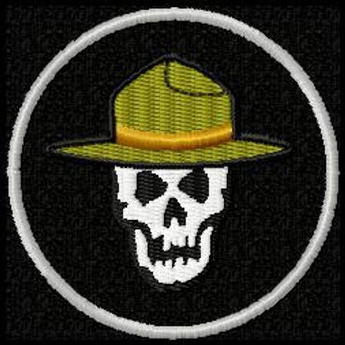 Trooper Skull Funny morale Patch