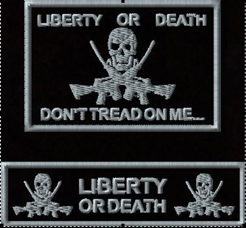 Tactial Hat patch combo Liberty or Death
