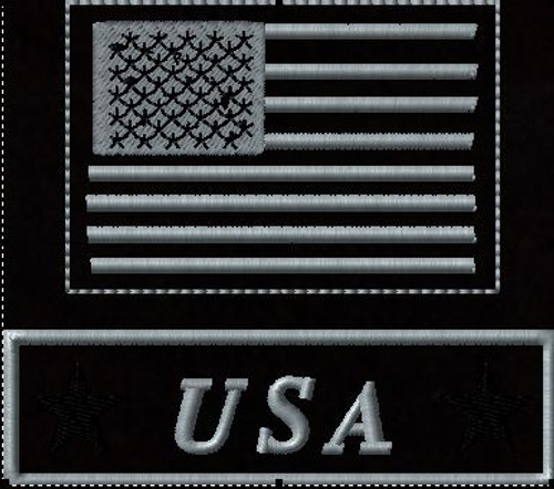 Tactical Hat Patches USA black